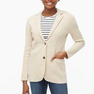 J. Crew Sweater-blazer size medium heather oatmeal